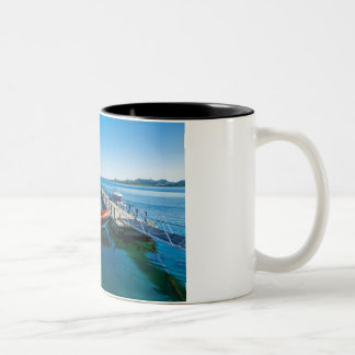 Landing stag and speed boat Two-Tone coffee mug