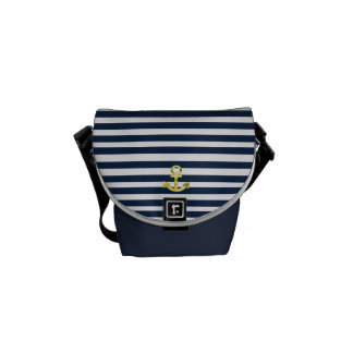 landlord nautical with anchor sea bream courier bag