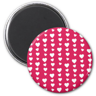 Landlord white Hearts of the day of San Valentin 2 Inch Round Magnet