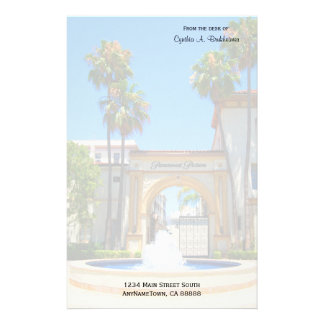 Landmark Hollywood Studio Personalized Stationery