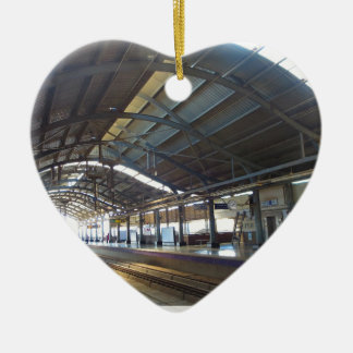 Landmark Landscapes AWESOME DELHI METRO Railway Ceramic Heart Ornament