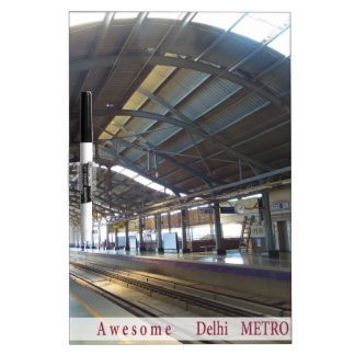 Landmark Landscapes AWESOME DELHI METRO Railway Dry Erase Board