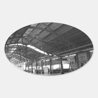 Landmark Landscapes AWESOME DELHI METRO Railway Oval Sticker