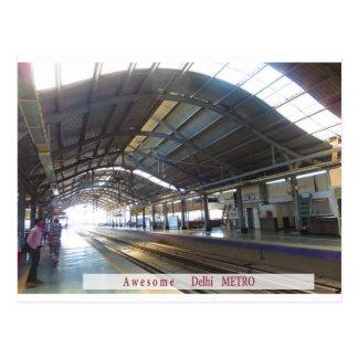 Landmark Landscapes AWESOME DELHI METRO Railway Postcard