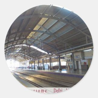 Landmark Landscapes AWESOME DELHI METRO Railway Round Sticker