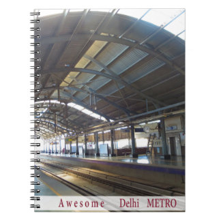 Landmark Landscapes AWESOME DELHI METRO Railway Spiral Note Books