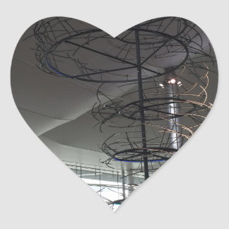 Landmark Photography  Heathrow airport London UK Heart Sticker