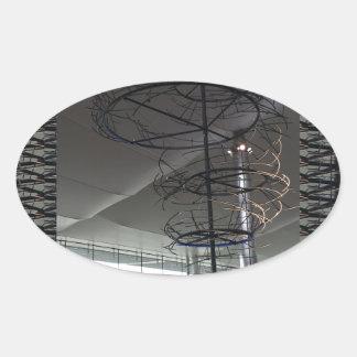 Landmark Photography  Heathrow airport London UK Oval Sticker
