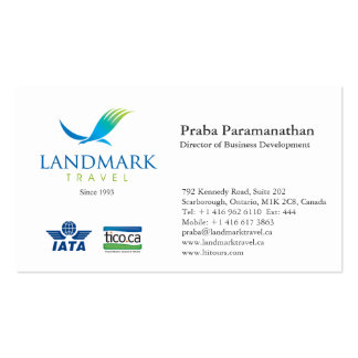 Landmark Travel Double-Sided Standard Business Cards (Pack Of 100)