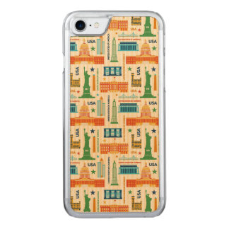 Landmarks of United States of America Carved iPhone 8/7 Case