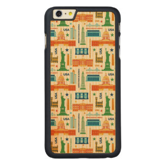 Landmarks of United States of America Carved Maple iPhone 6 Plus Case
