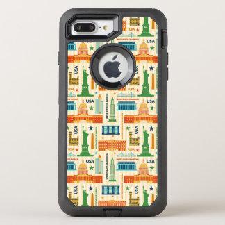 Landmarks of United States of America OtterBox Defender iPhone 8 Plus/7 Plus Case