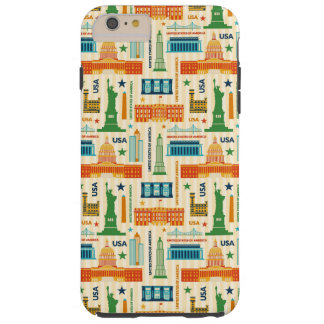 Landmarks of United States of America Tough iPhone 6 Plus Case