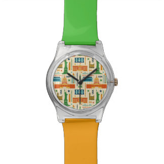 Landmarks of United States of America Wrist Watch