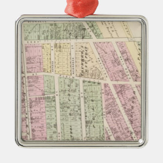 Landowners, store building maps metal ornament