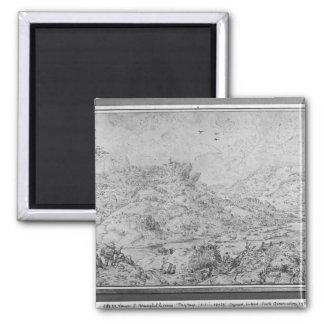 Landscape, 1553 square magnet