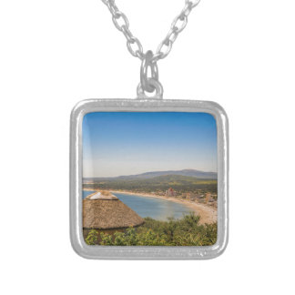 Landscape Aerial View Piriapolis Uruguay Silver Plated Necklace