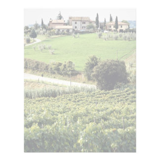 Landscape and farm, Tuscany, Italy Europe Letterhead