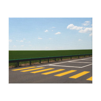 Landscape and Road Painted Lines Canvas Print