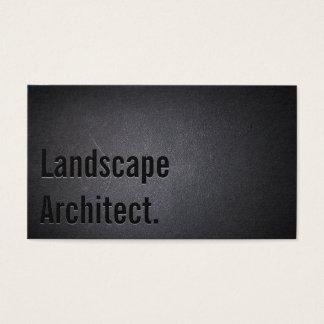Landscape Architect Landscaping Bold Black Business Card