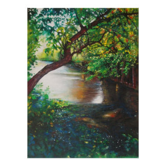 Landscape Art - Along The Rogue River | Poster