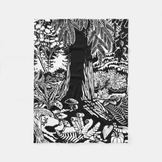 Landscape Art Blankets  B&W Canada Forest Blankets