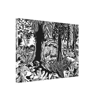 Landscape Art Prints B & W Art Canvas Print