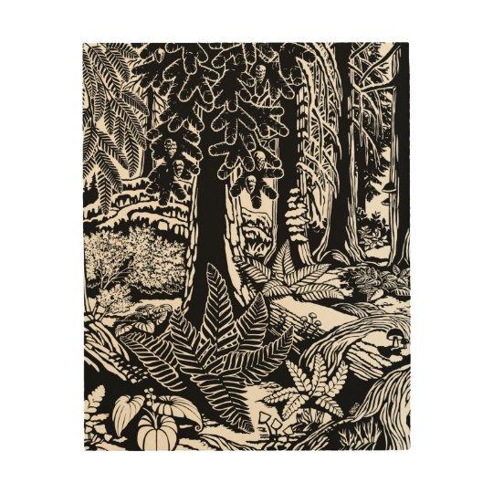 Landscape Art Prints B & W Forest Art Wood Print