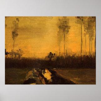 Landscape at Dusk Posters