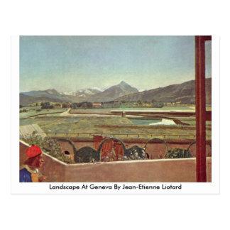 Landscape At Geneva By Jean-Etienne Liotard Postcard