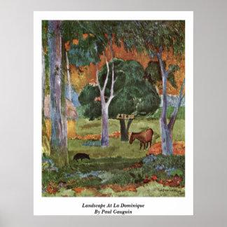 Landscape At La Dominique By Paul Gauguin Poster