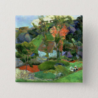 Landscape at Pont Aven, 1888 2 Inch Square Button