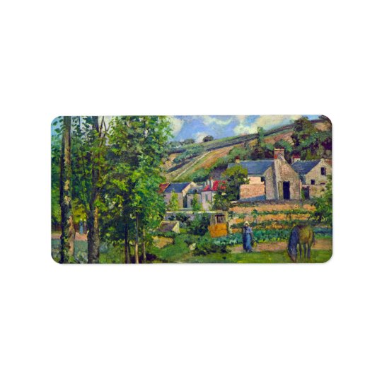Landscape at Pontoise by Camille Pissarro Label