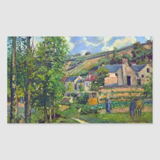 Landscape at Pontoise by Camille Pissarro Sticker
