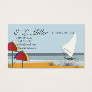 Landscape Boat Sailboat Ocean Vacation  Travel Business Card