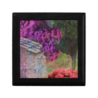 Landscape ,buganvillas  in full color trinket box