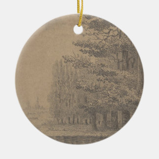 Landscape creation of Jesus Christ Ceramic Ornament