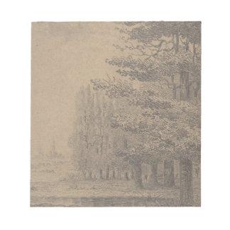 Landscape creation of Jesus Christ Notepad