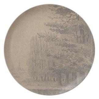 Landscape creation of Jesus Christ Plate