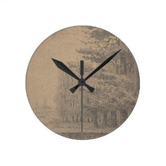 Landscape creation of Jesus Christ Round Clock