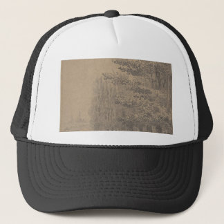 Landscape creation of Jesus Christ Trucker Hat