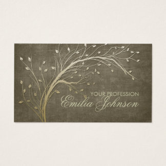 Landscape Designer Gardener Gold Tree Branch Card