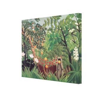 Landscape exotique 1910 toile tendue