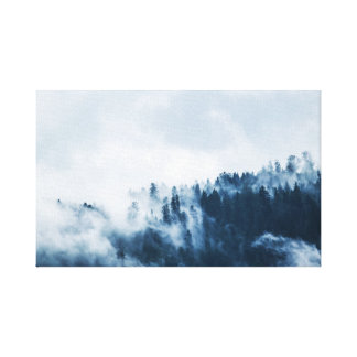 Landscape | Fog | Mountain Canvas Print