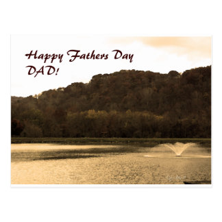 landscape, Happy Fathers Day DAD! Postcard