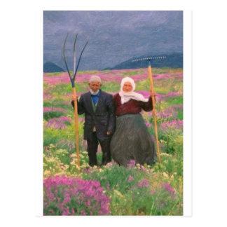 landscape  heavenly kurdish family postcard