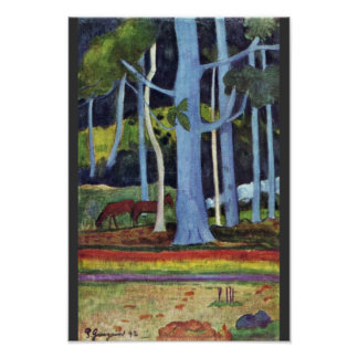 Landscape In Tahiti By Gauguin Paul (Best Quality) Poster