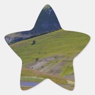 Landscape in the Sibillini Mountains in Italia Star Sticker