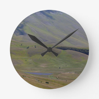 Landscape in the Sibillini Mountains in Italy Wallclock