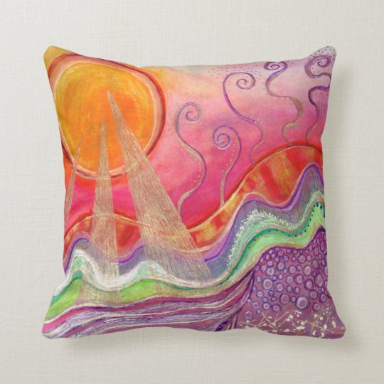 Landscape in the Sun Throw Pillow